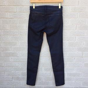 J Brand Coated Skinny Legging Jeans - Blue Knight